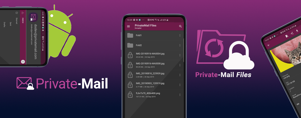 PrivateMail Android Apps are now in Open Beta